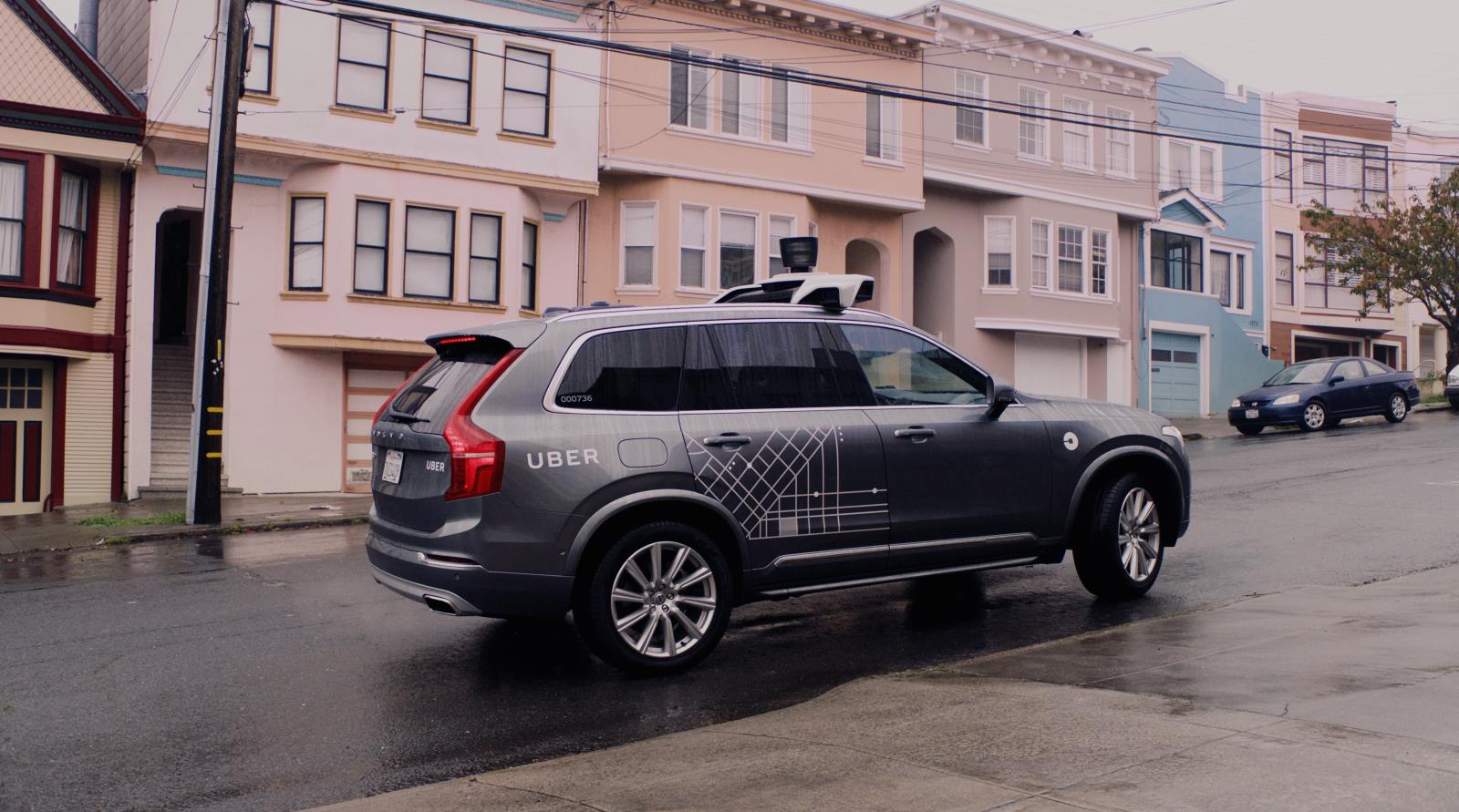 Uber autonomous Volvo in San Francisco