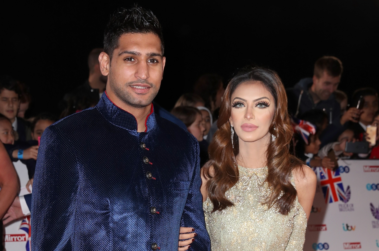Amir Khan with his wife Faryal Makhdoom