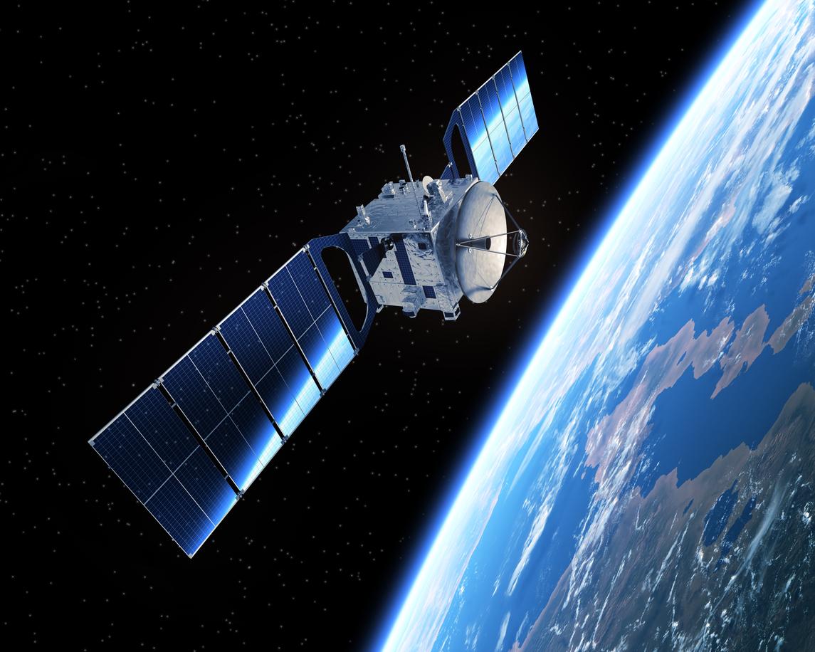 Satellite in space