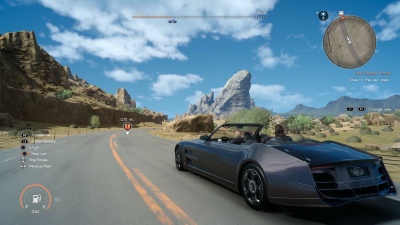 Final Fantasy 15 driving