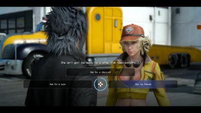 Final Fantasy 15 Cindy dialogue