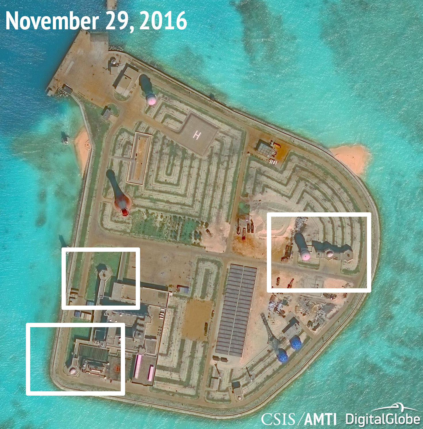 China installs weapons systems on artificial islands