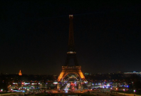 Eiffel Tower goes dark in solidarity with people of Aleppo