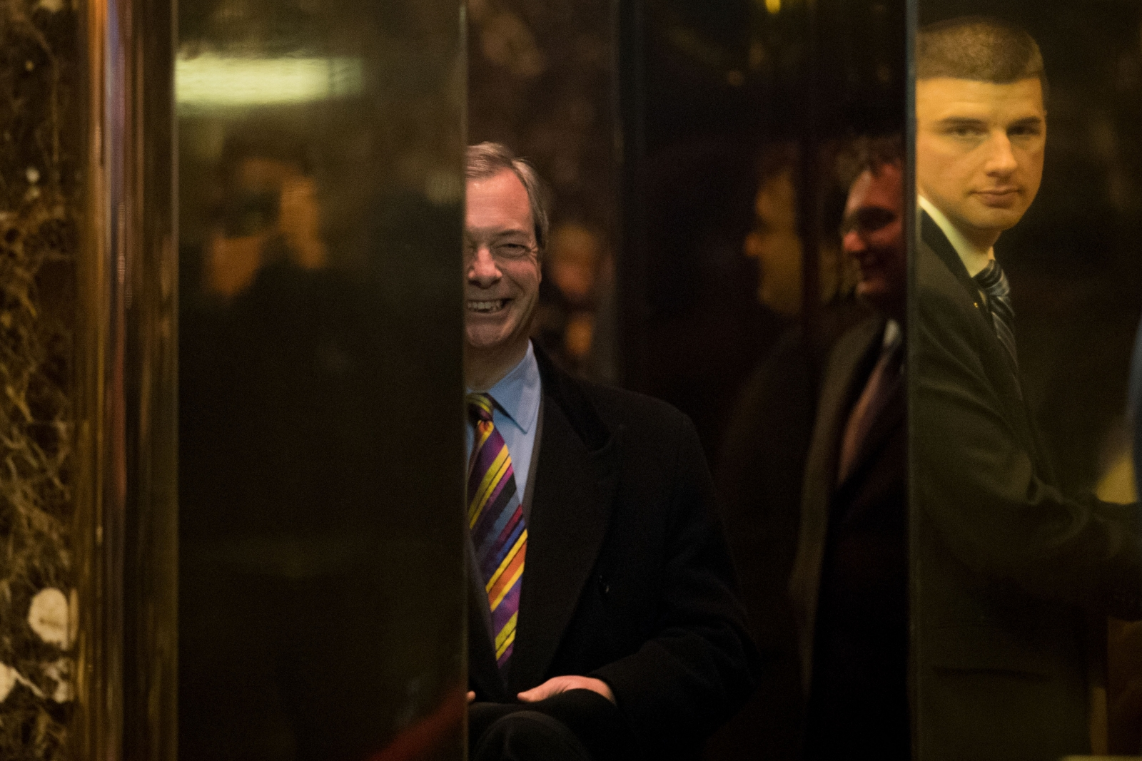 Nigel Farage enters Trump Tower