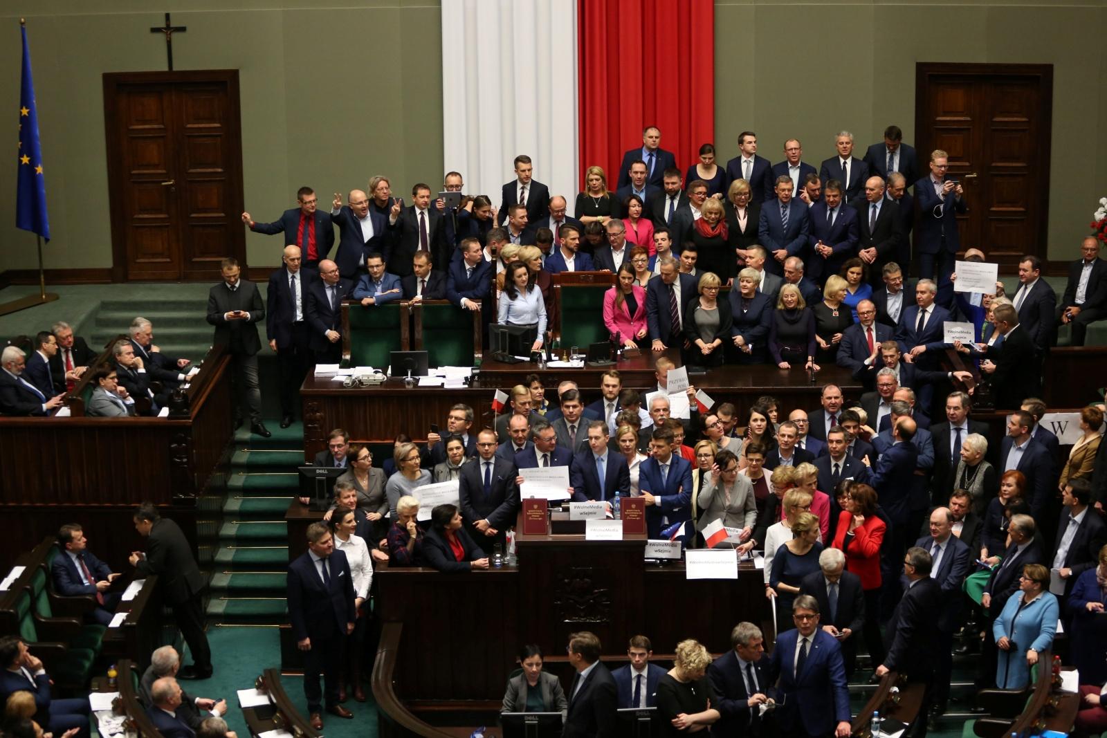Poland parliament protest
