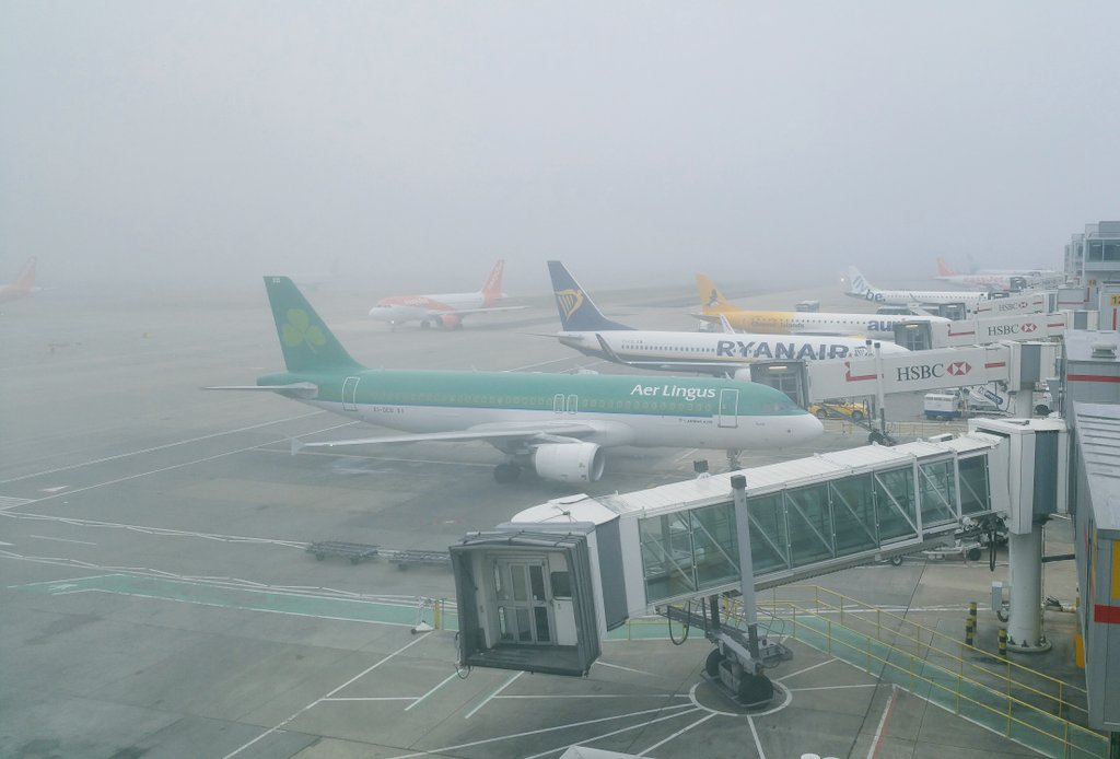Fog at Gatwick Airport on Saturday