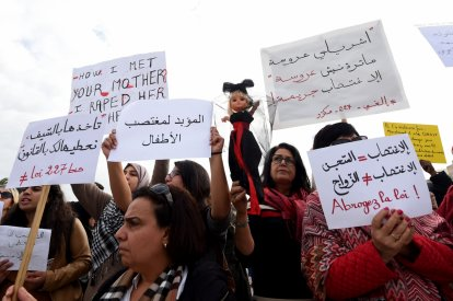 Tunisians protest against Article 227