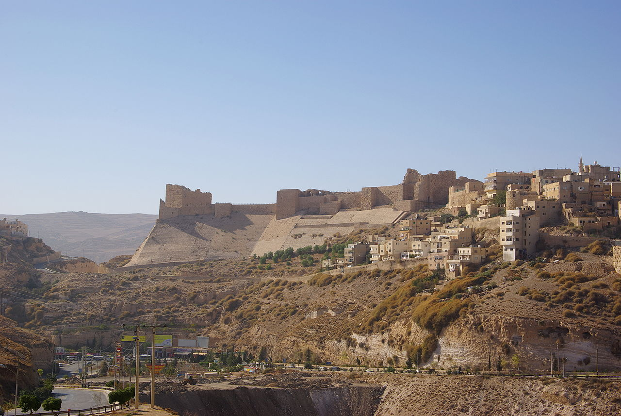 Kerak Castle, one of the largest crusader castles in the Levant, where gunmen are said to be hiding from police