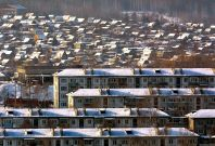 An outskirt ofthe Siberian city of Irkutsk