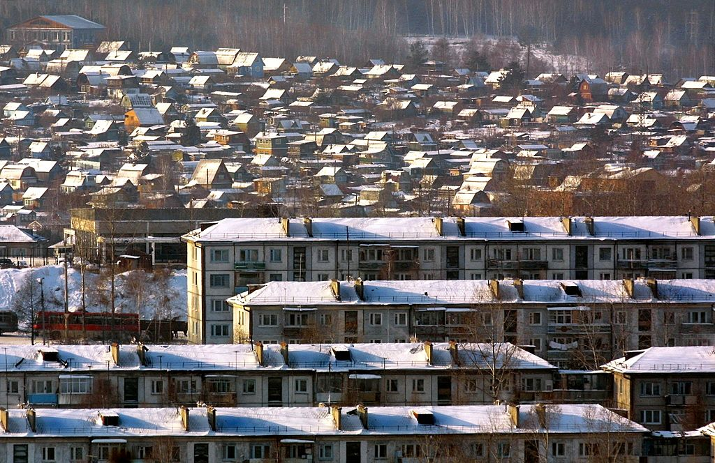 An outskirt ofthe Siberian city of Irkutsk