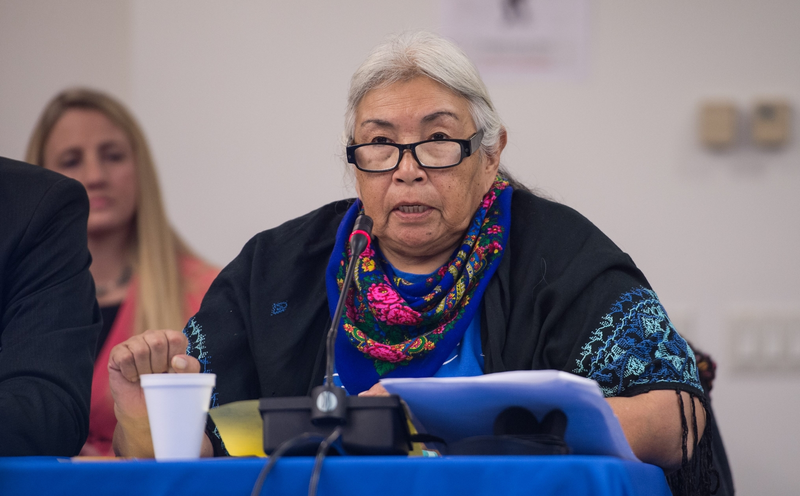 Faith Spotted Eagle in December, 2016