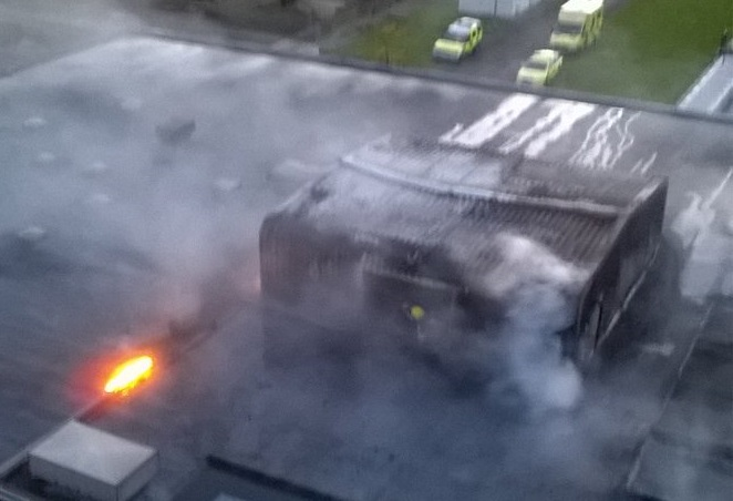 Abbey Wood Fire Sewage Works Goes Up In Flames In East London
