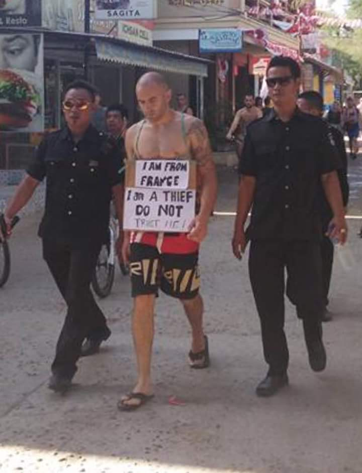 """French man does """"walk of shame"""""""