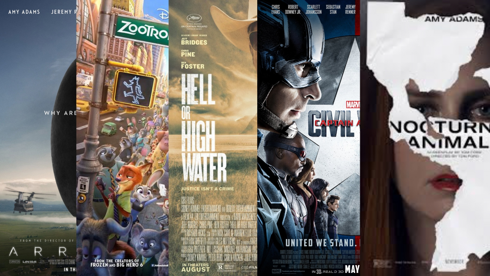 Best films of 2016: Captain America: Civil War, Arrival, Zootropolis and more