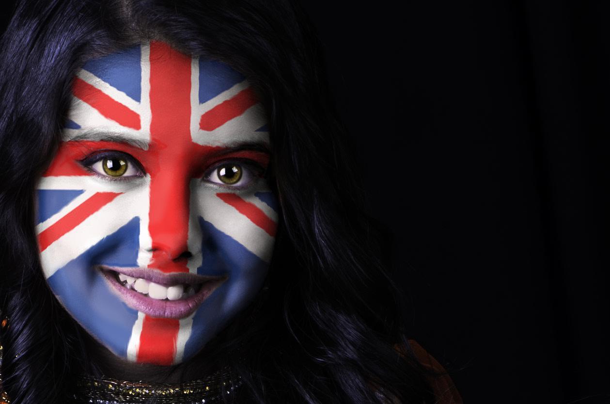 British flag face