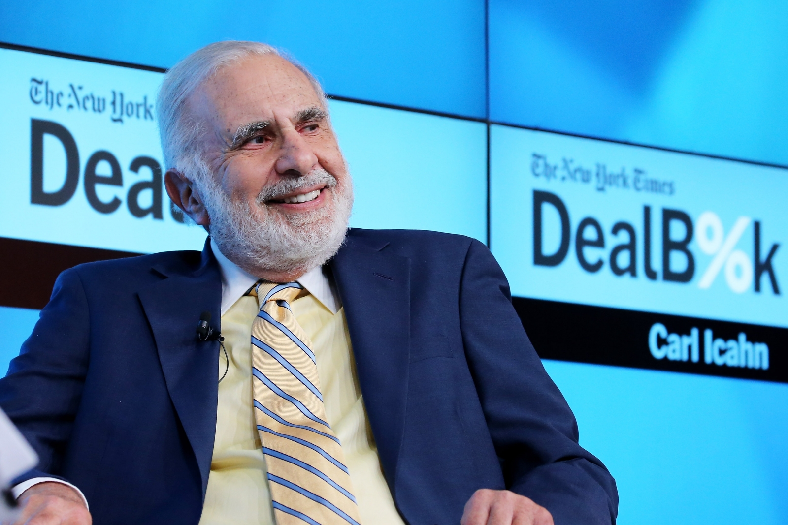 Carl Icahn at a New York conference