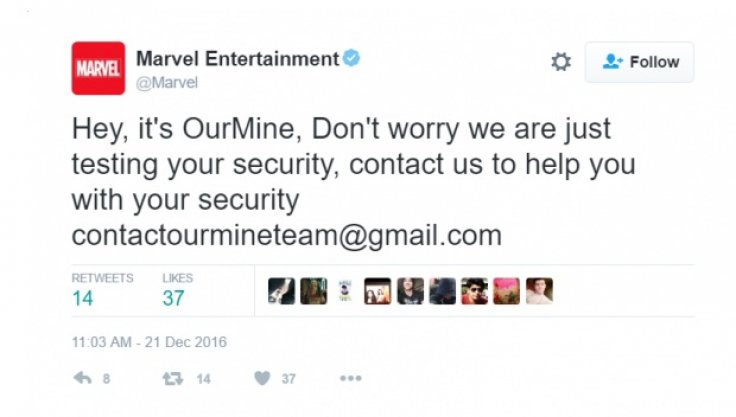 Marvel Twitter feed