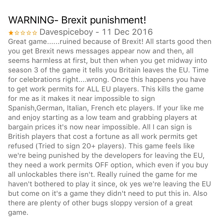 Football Manager Brexit