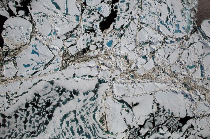 Rotting sea ice