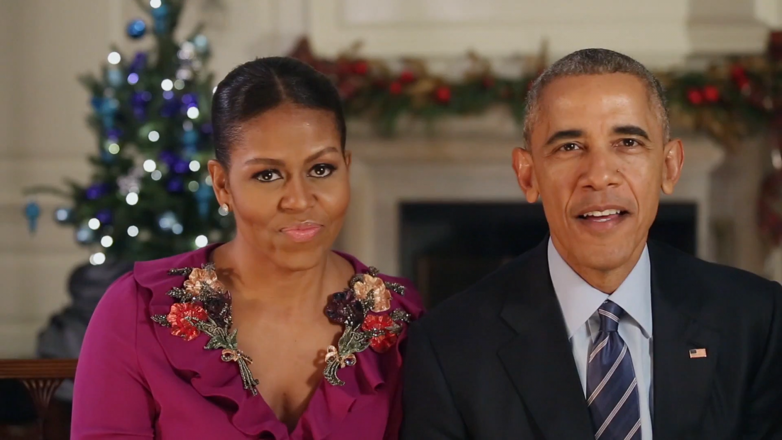The Obamas deliver their final Christmas message to the nation