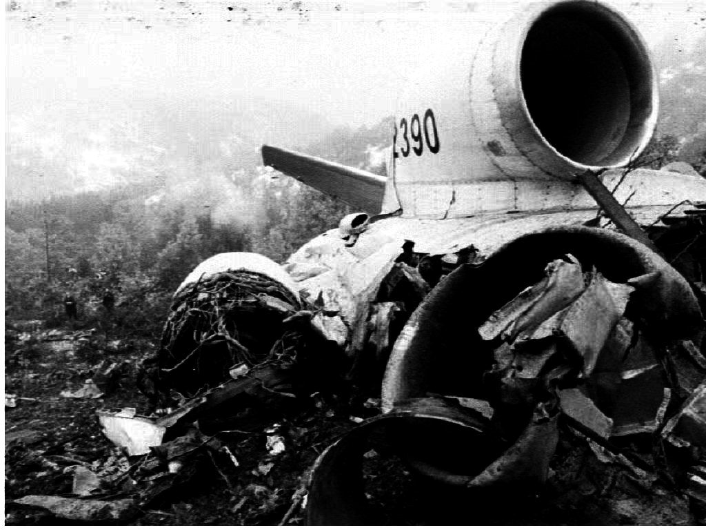 A plane crash over Macedonia in 1993