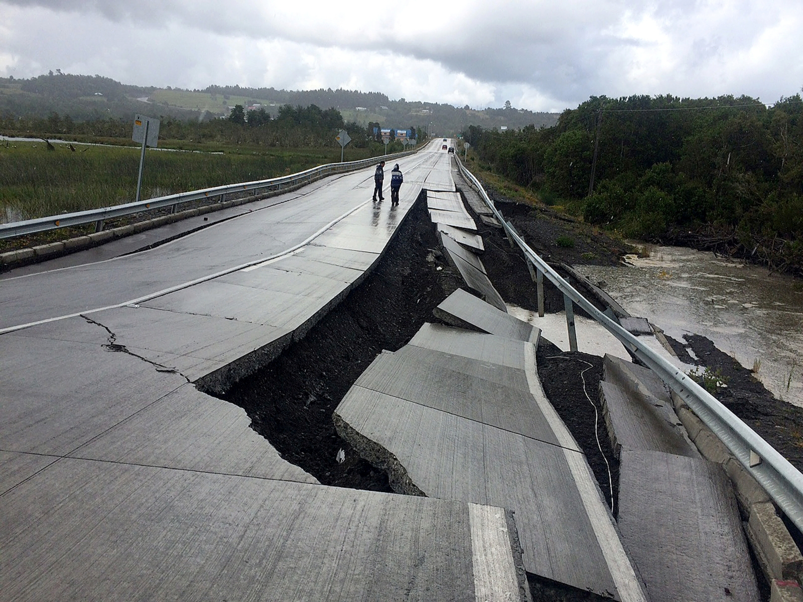 Chile Earthquake damage 25 December