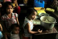 Typhoon Nock-ten evacuation centre Philippines