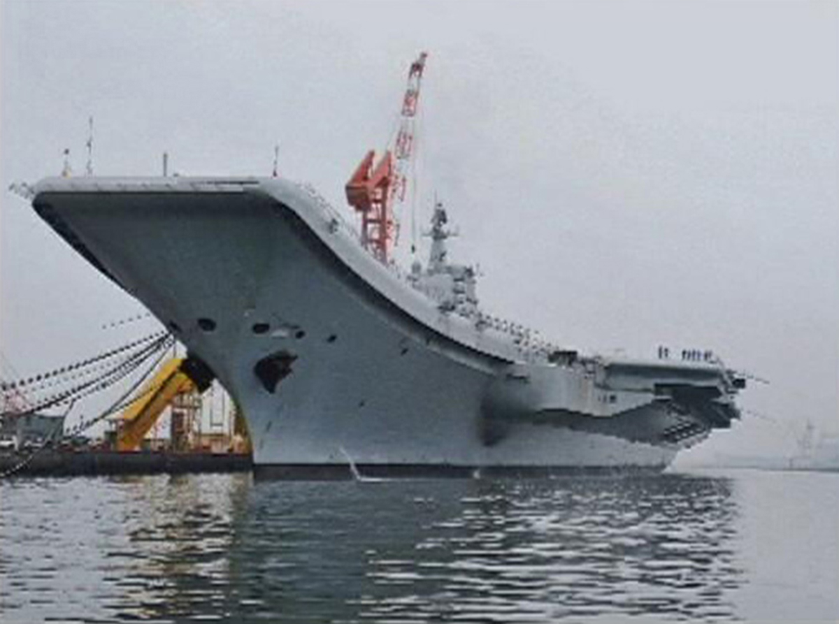 China's sole aircraft carrier