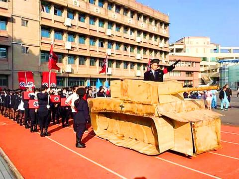 Taiwan school holds 'Nazi' parade, complete with tanks and Swastikas