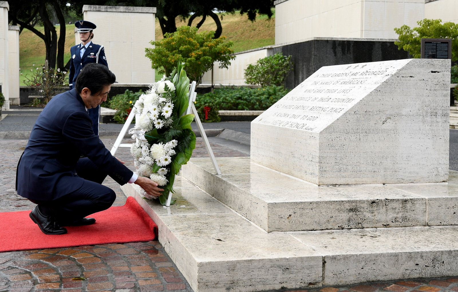 Japan PM Shinzo Abe in Hawaii