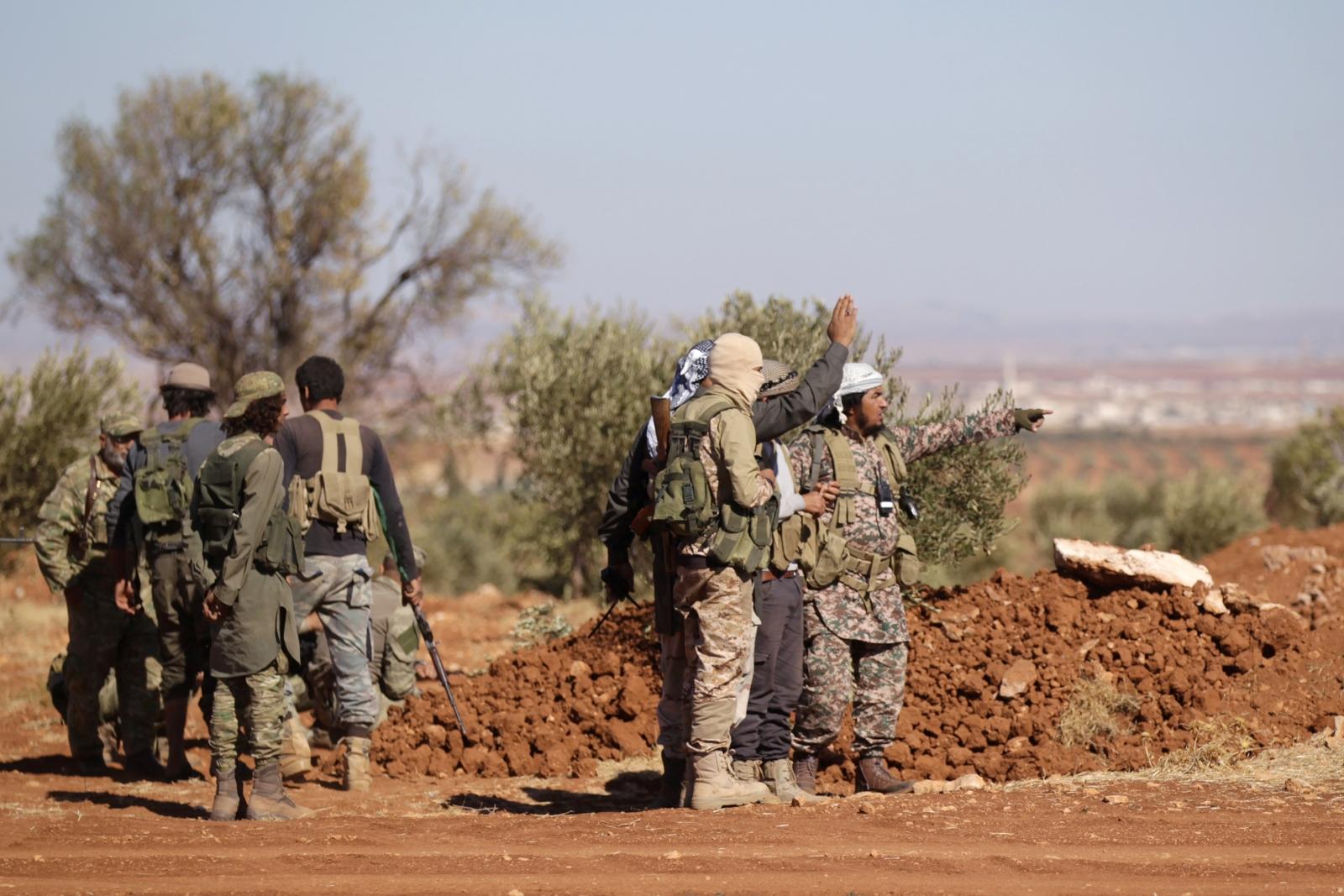 rebels in Syria's al-Bab