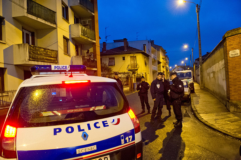 Police in Tolouse during the 2012