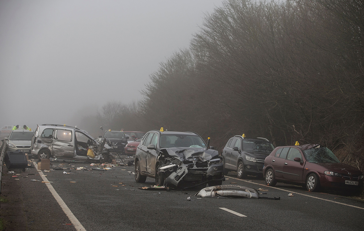 A40 crash: one dead and two critical after 20 car pile-up in Oxfordshire