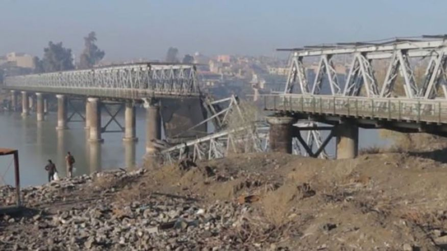 Mosul bridge Iraq Isis