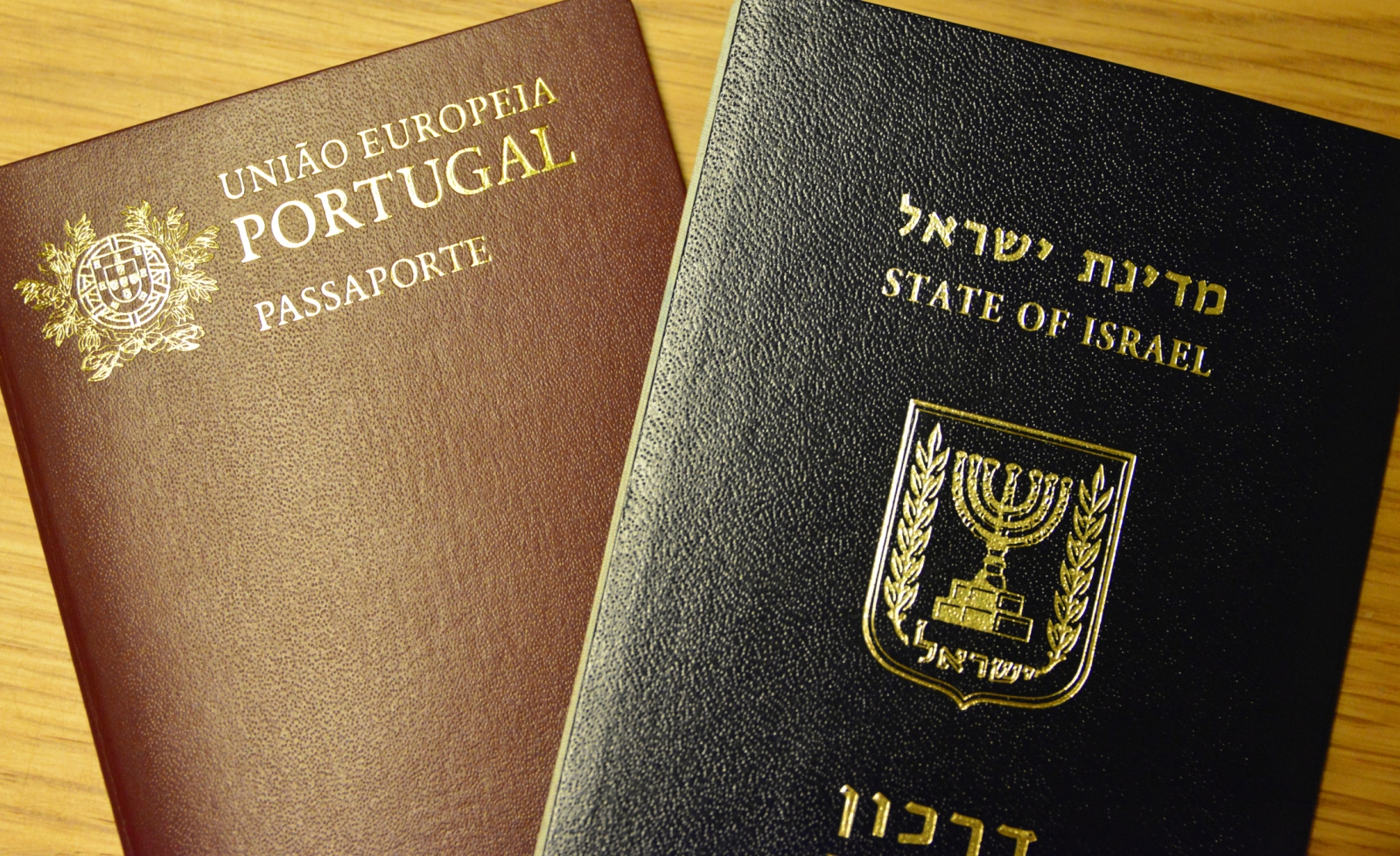 Portugal and Israel passports