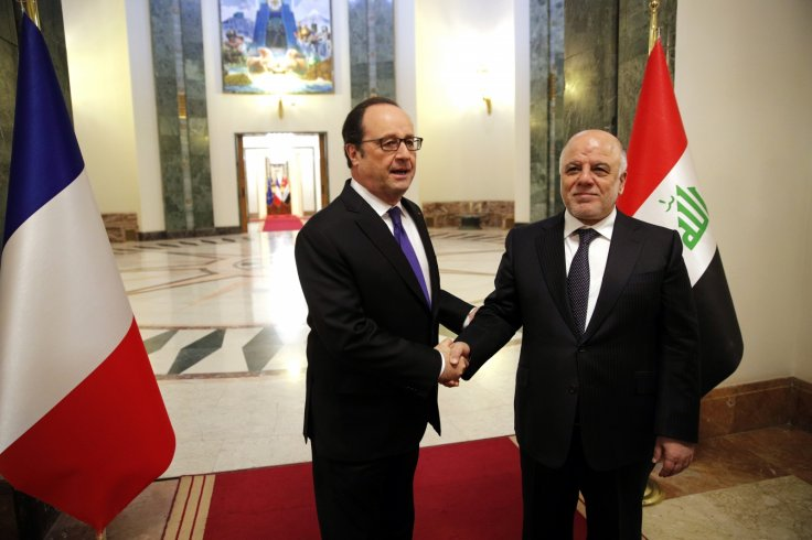Francois Hollande in Iraq