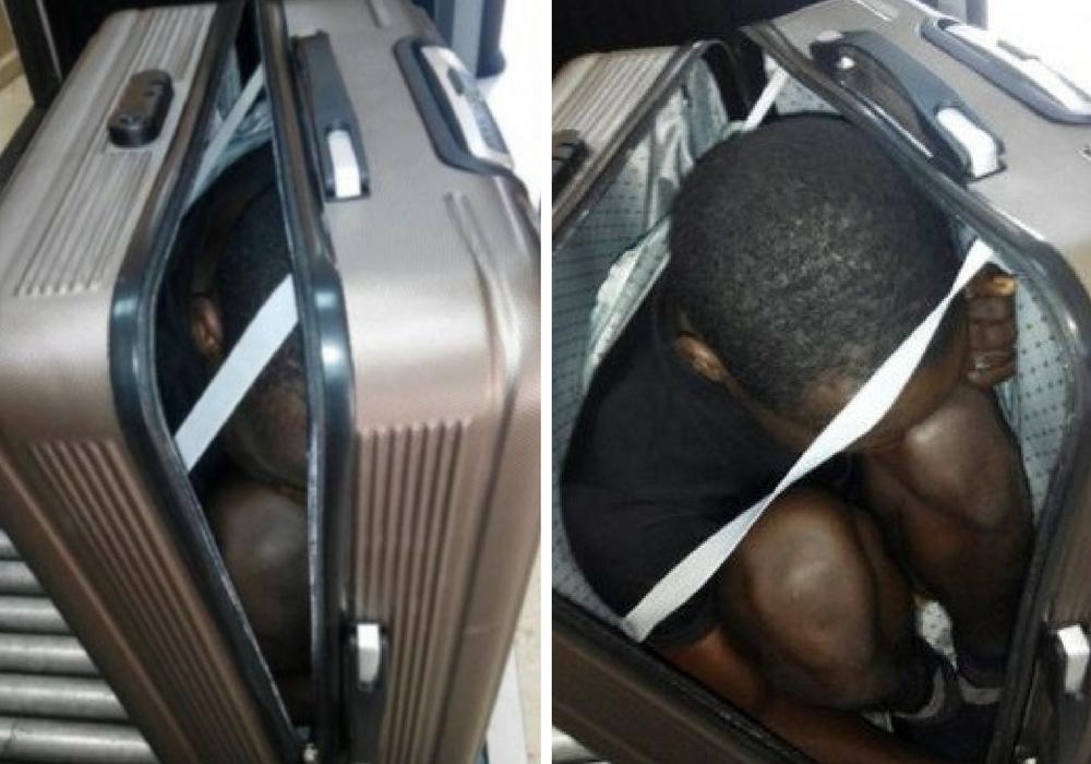 Suitcase migrant