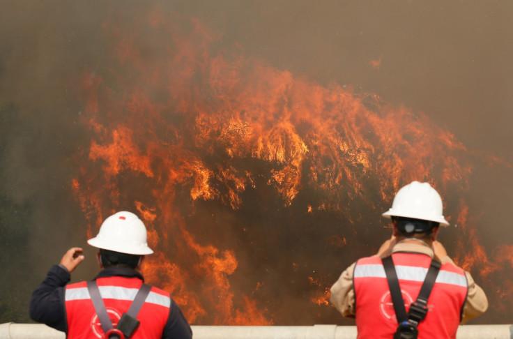 Chile wildfire Valparaiso
