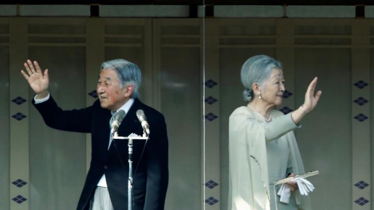 Japanese Emperor Akihito, Empress Michiko