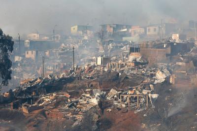 Chile Valparaiso fire