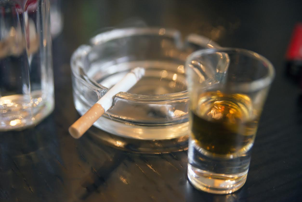 Alcohol smoking