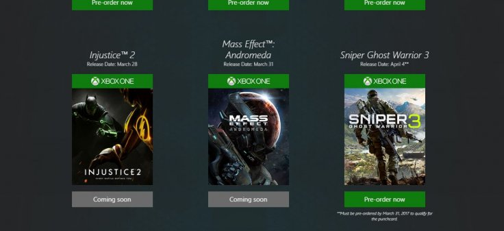 Mass Effect Injustice release dates