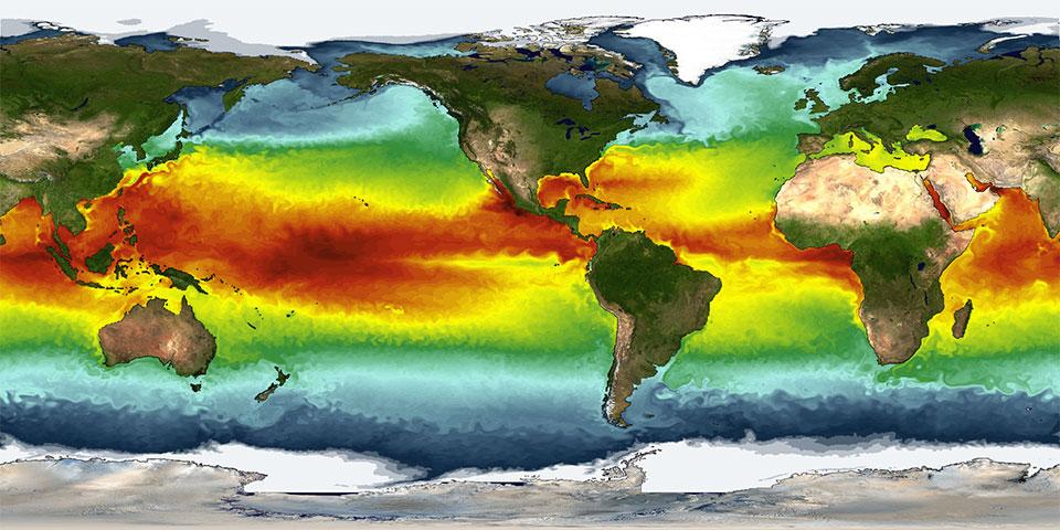 Sea-surface temperatures