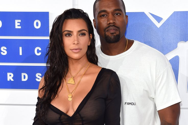 51af85a2 Kanye West and Kim Kardashian West attend the 2016 MTV Video Music Awards  at Madison Square Garden in New York City on 28 August 2016 Jamie  McCarthy/Getty ...