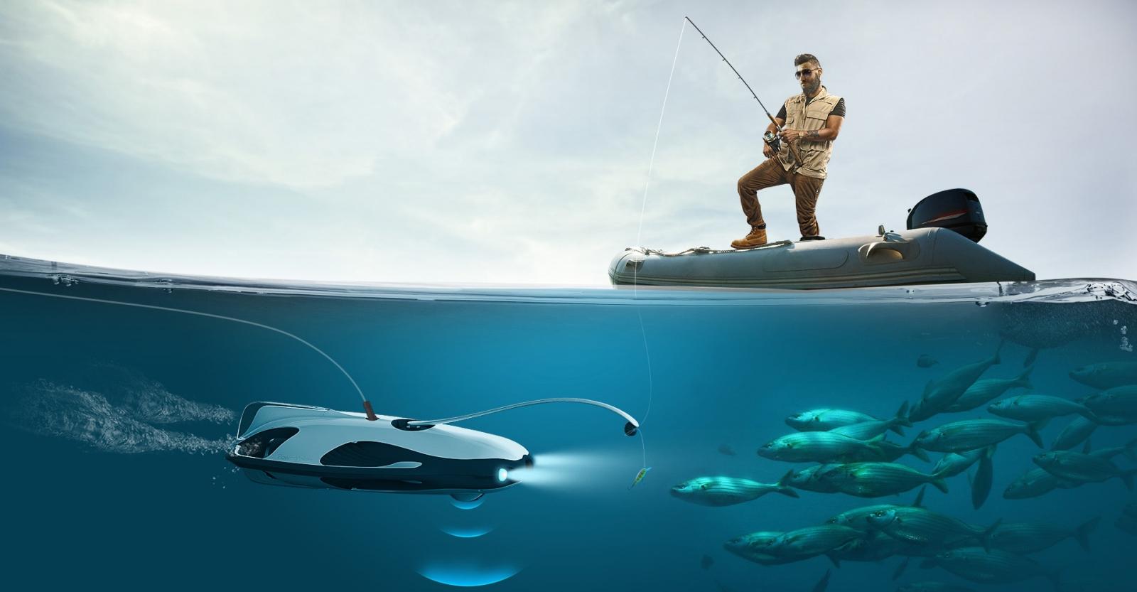 PowerRay fishing drone