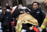 Brooklyn New York train derailed