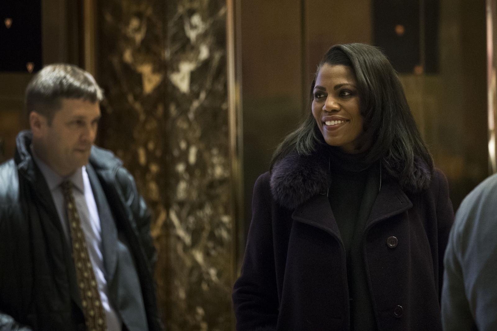 Omarosa Manigault at Trump Tower