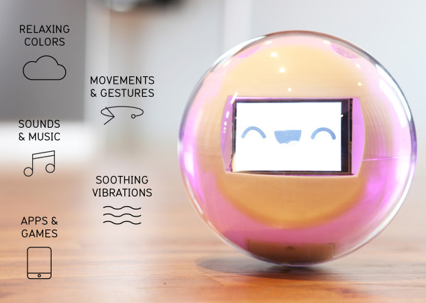 This robot is a smart toy designed to help children with developmental disabilities