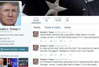 trump twitter tweets screengrab
