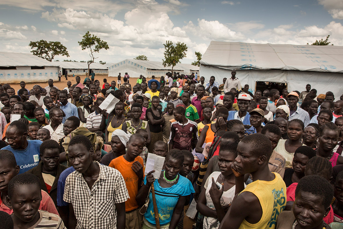 South Sudan refugees Uganda